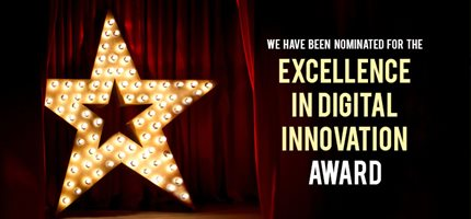 We're in the final for the Digital Innovation Award!